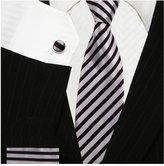 Bestow Neckties Bestow & Red Striped Tie Set | Neckties