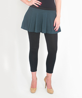 Magid Teal Circle Skirt Leggings - Plus Too