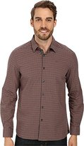 Kenneth Cole New York Kenneth Cole Men's Long Sleeve Iridescent Check with Elbow Patches Shirt