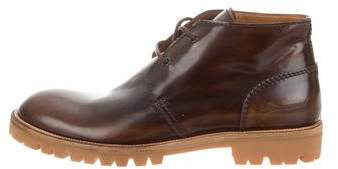 DSQUARED2 Leather Desert Boots