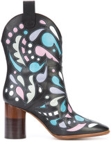 Maison Margiela printed cowboy boots - women - Leather - 36