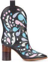 Maison Margiela printed cowboy boots - women - Leather - 36