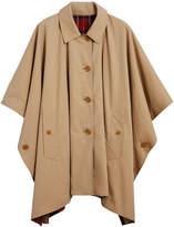 Burberry tartan-lined tropical cape