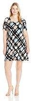 Karen Kane Women's Plus Size Line Dress