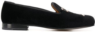 Stubbs & Wootton Eden embroidered loafers