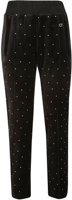 Chiara Ferragni Crystal Embellished Track Pants