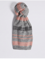 M&S Collection Knitted Sparkle Stripe Scarf