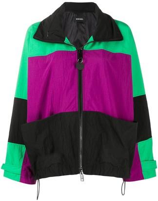 Diesel G-Wayne panelled colour block jacket