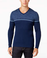 Alfani Men's Texture Stripe V-Neck Sweater, Created for Macy's