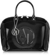 Armani Jeans Faux Patent Leather Handbag