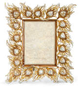 """Jay Strongwater Peacock Feather 5"""" x 7"""" Picture Frame"""