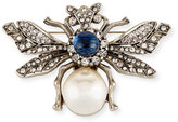 Kenneth Jay Lane Pearly Crystal Bee Pin