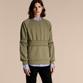 Burberry Puff-sleeved Cotton Blend Jersey Sweatshirt