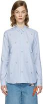 Kenzo Blue Striped Cartoon Shirt