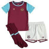Umbro Kids West Ham Home Mini Kit 2015 2016 Infants Shirt Shorts Socks Football