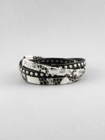Snakeskin Leather Wrap Bracelet