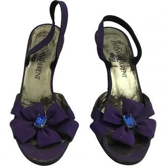 Saint Laurent Purple Glitter Sandals