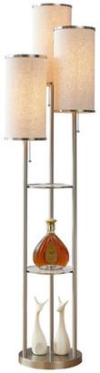 "Artiva USA Eleanor 66"" H LED Tri-Light Shelf Floor Lamp, Satin Nickel"