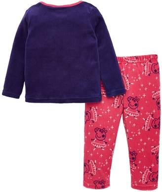 Peppa Pig Girls Ballerina Pyjamas - Purple