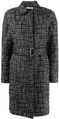 Philosophy di Lorenzo Serafini check pattern single breasted coat