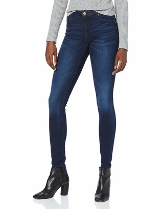 Only Women's Onliris Mid Sk Pushup Rethk Bb Soo50017k Skinny Jeans