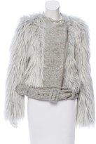 Band Of Outsiders Faux Fur Moto Jacket
