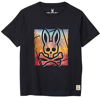 Psycho Bunny Kids Printed Tee (Toddler/Little Kids/Big Kids) (Navy) Boy's Clothing