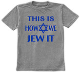 Urban Smalls Heather Blue 'This Is How We Jew It' Tee - Toddler & Boys