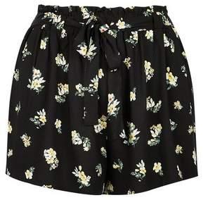 Dorothy Perkins Womens **Dp Curve Black Ditsy Print Tie Waist Shorts, Black