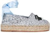 Chiara Ferragni high shine espadrilles - women - Cotton/Raffia/Leather/PVC - 36