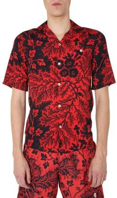Alexander McQueen Floral Printed Short-Sleeve Shirt