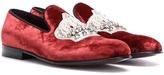 Dolce & Gabbana Embellished Velvet Slippers