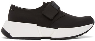 MM6 MAISON MARGIELA Black Slip-On Chunky Sole Sneakers