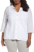 Eileen Fisher Plus Size Women's Organic Cotton Voile Shirt