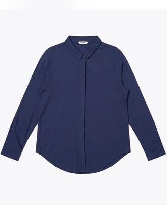 Wemoto Navy Blue Gill Dress Shirt - S | navy blue - Navy blue