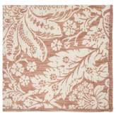 D'Ascoli Set Of Four Garden Floral-print Cotton Napkins - Brown Multi
