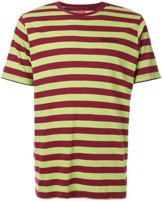 Supreme bar stripe T-shirt