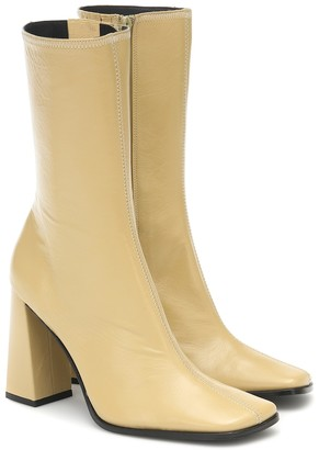 BY FAR Linda leather ankle boots