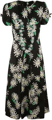 Marc Jacobs Long Floral Print Dress