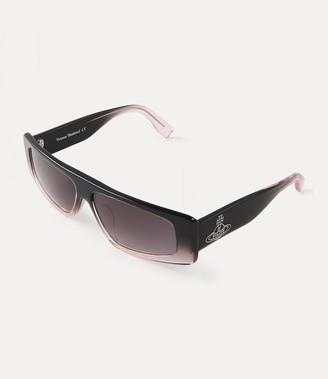 Vivienne Westwood Retro Square Sunglasses Grey/Pink