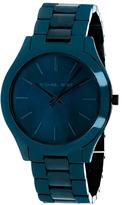 Michael Kors Slim Runway MK3419 Women's Blue Stainless Steel Watch