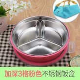 Lunch Box Luckyfree Luckyfree Lunch Box Stainless Steel Students Adult Picnic Bento Boxes Keep Warm Seal,I, Circular-Pink+Bags