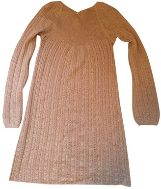 Bonpoint Gold Wool Dress for Women