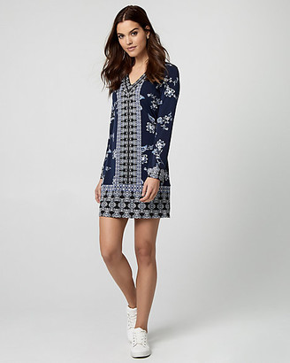 Le Château Floral Print Knit Tunic Dress