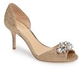 Badgley Mischka Women's Hays Embellished Sparkling Sandal