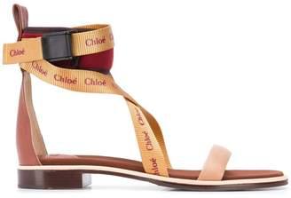 Chloé branded strap sandals
