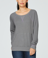 Yummie by Heather Thomson Castlerock Kangaroo Pouch Boatneck Pullover