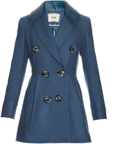 Fendi Detachable-collar wool and cashmere-blend coat