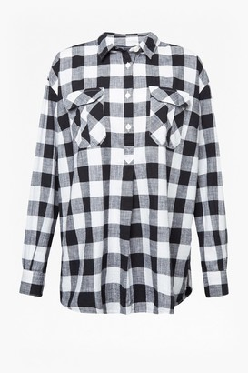 French Connection Hadley Check Pop Over Shirt
