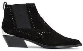 Rag & Bone Westin Studded Suede Ankle Boots